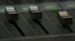 Professional multitrack sound recording, setting the volume - stock footage