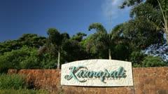 Kaanapali Beach Resort sign, Maui, Hawaii Stock Footage