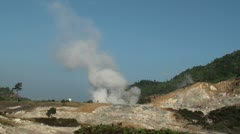 Volcanic geyser. Java. Indonesia. Stock Footage