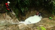 Stock Video Footage of canyoning