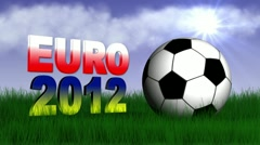 Euro 2012 day text 2 Stock Footage