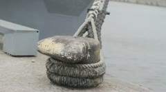 Harbor Rope Stock Footage