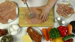 Cooking Chicken Breast Stock Footage