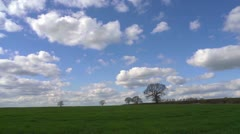 Motion controlled time lapse with fields and trees, winter 2 Stock Footage