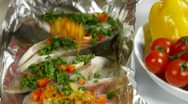 Stock Video Footage of Cooking Baked Fish