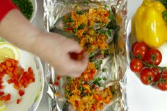 Cooking Baked Fish Stock Footage