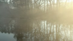 Morning Fog on a Pond HD - stock footage