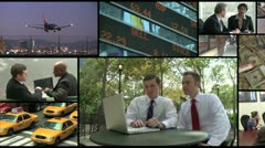 Montage of business affairs (1 of 1) - stock footage
