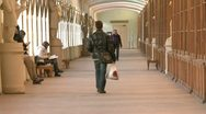 The corridor of the institute Stock Footage