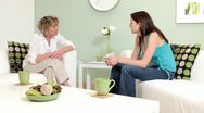 Stock Video Footage of Candid conversation between counsellor and client