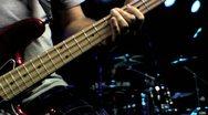 Bass Guitar Fretting Close Up HD Stock Footage