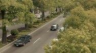 Traffic Trees Timelapse Stock Footage