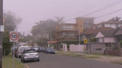 Fog covers parts of Sydney and the coast line PT2 Stock Footage