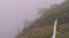Fog covers parts of Sydney and the coast line PT3 Stock Footage