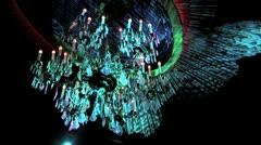Chandelier Lights Wide Shot HD Stock Footage