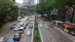 Rush Hour Traffic in Singapore Stock Footage