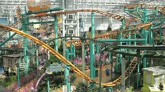 Stock Footage - Mall of America - Wide - shows a lot of the rides in action Stock Footage