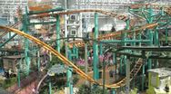 Stock Video Footage of Stock Footage - Mall of America - Wide - shows a lot of the rides in action