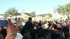 Over the Crowd Dragon Dance 2 Stock Footage