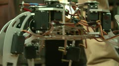 Spider robot Stock Footage