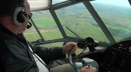 The wheel plane Stock Footage
