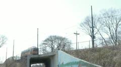 Trolley Boston Inbound Stock Footage