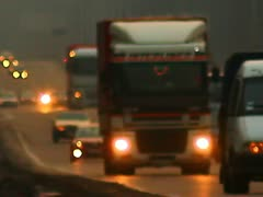 The evening-night city cars traffic Stock Footage