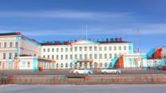 Stereoscopic 3D Helsinki 10 - Presidential Palace Stock Footage