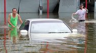 Thailand Flood Ayutthaya 9466 Stock Footage