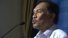 Anwar Ibrahim, Malaysian pro democracy activist human rights dissident 2032 Stock Footage