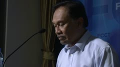 Anwar Ibrahim, Malaysian pro democracy activist human rights dissident 2031 Stock Footage