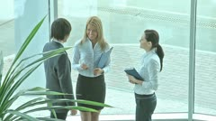 Business acquaintance Stock Footage