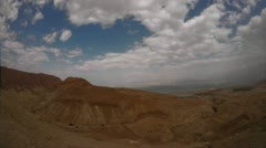Dead sea view timlapse zoom 0312 Stock Footage