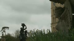 Statues (one) at Queen Victoria's Osborne House Stock Footage