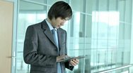 Stock Video Footage of Business guy with tablet-pc