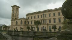 Queen Victoria's Osborne House on Isle Wight (two) Stock Footage