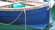Bow Of A Fishing Boat Stock Footage