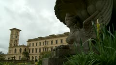 Queen Victoria's Osborne House on Isle Wight (one) Stock Footage