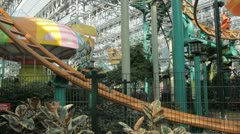 Stock Footage - Mall of America Park - Wide - People - Action- Zoom by Stock Footage