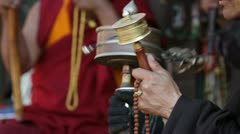 Prayer wheel Stock Footage