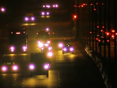 The evening-night road car traffic time lapse video Stock Footage
