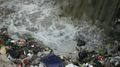 Waste and river Stock Footage