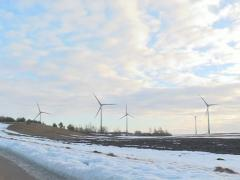wind mill clouds sun flow - stock footage
