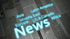 News titles - stock footage
