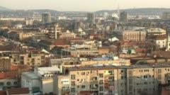 Belgrade, Zemun, builings, city Stock Footage