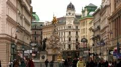 Vienna, Graben Stock Footage
