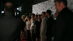 Red Carpet Movie Premiere Celebrities Famous People 17 Stock Footage