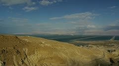 Dead sea view pan 0312 Stock Footage