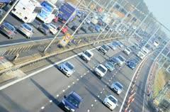 Motorway timelapse (M1) - stock footage
