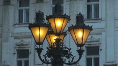 Public lamp orchestra Stock Footage